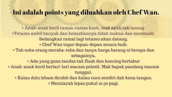 Komen Ibu Rose mengenai Chef Wan